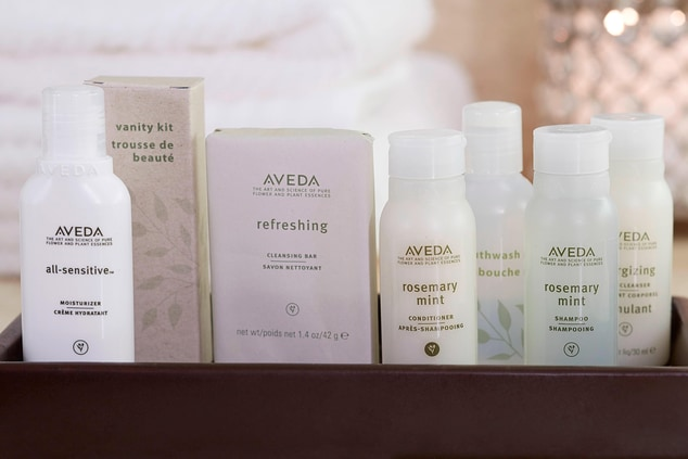 Club and Suite Guestroom Aveda amenities