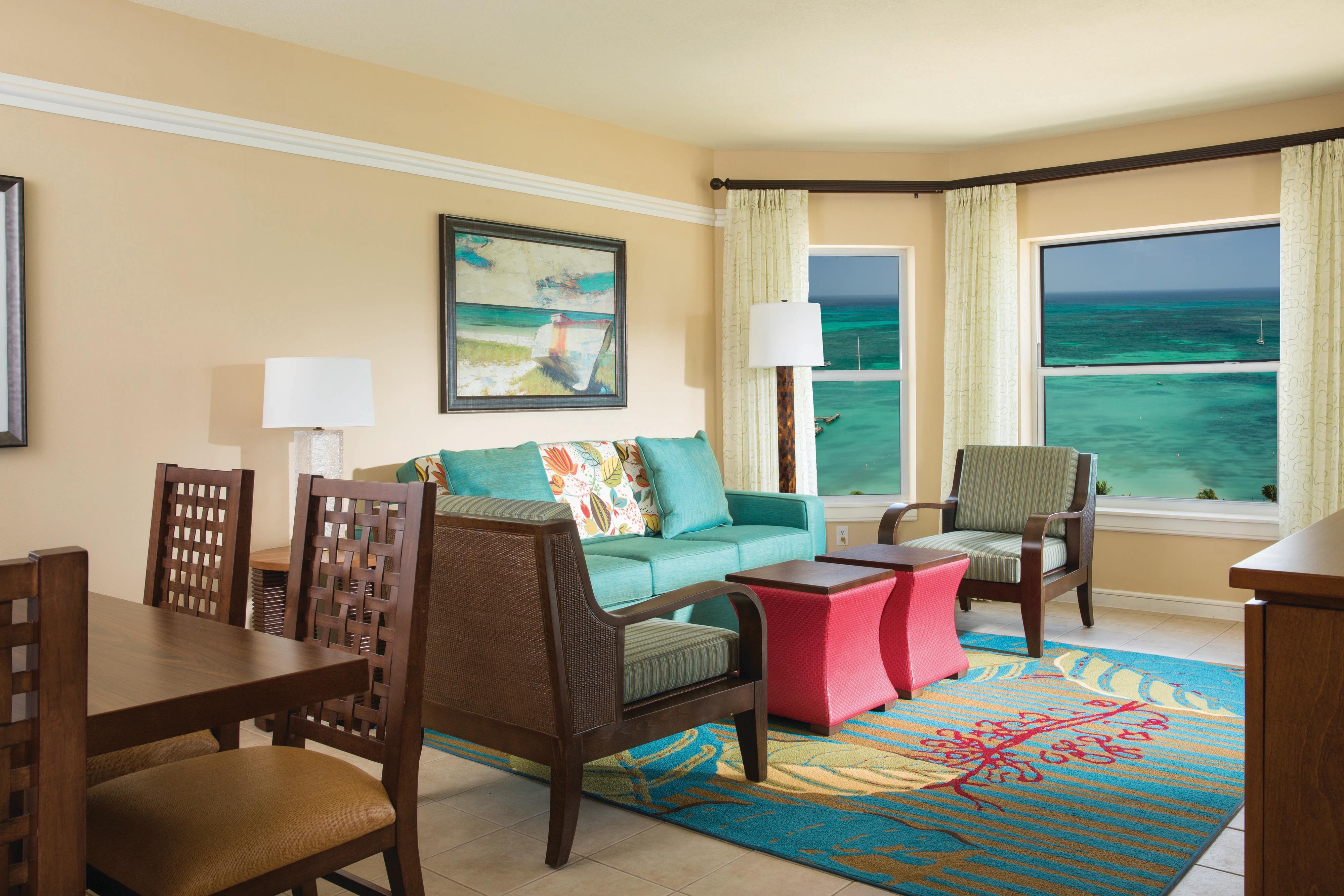 Villa Living & Dining Room - Oceanfront