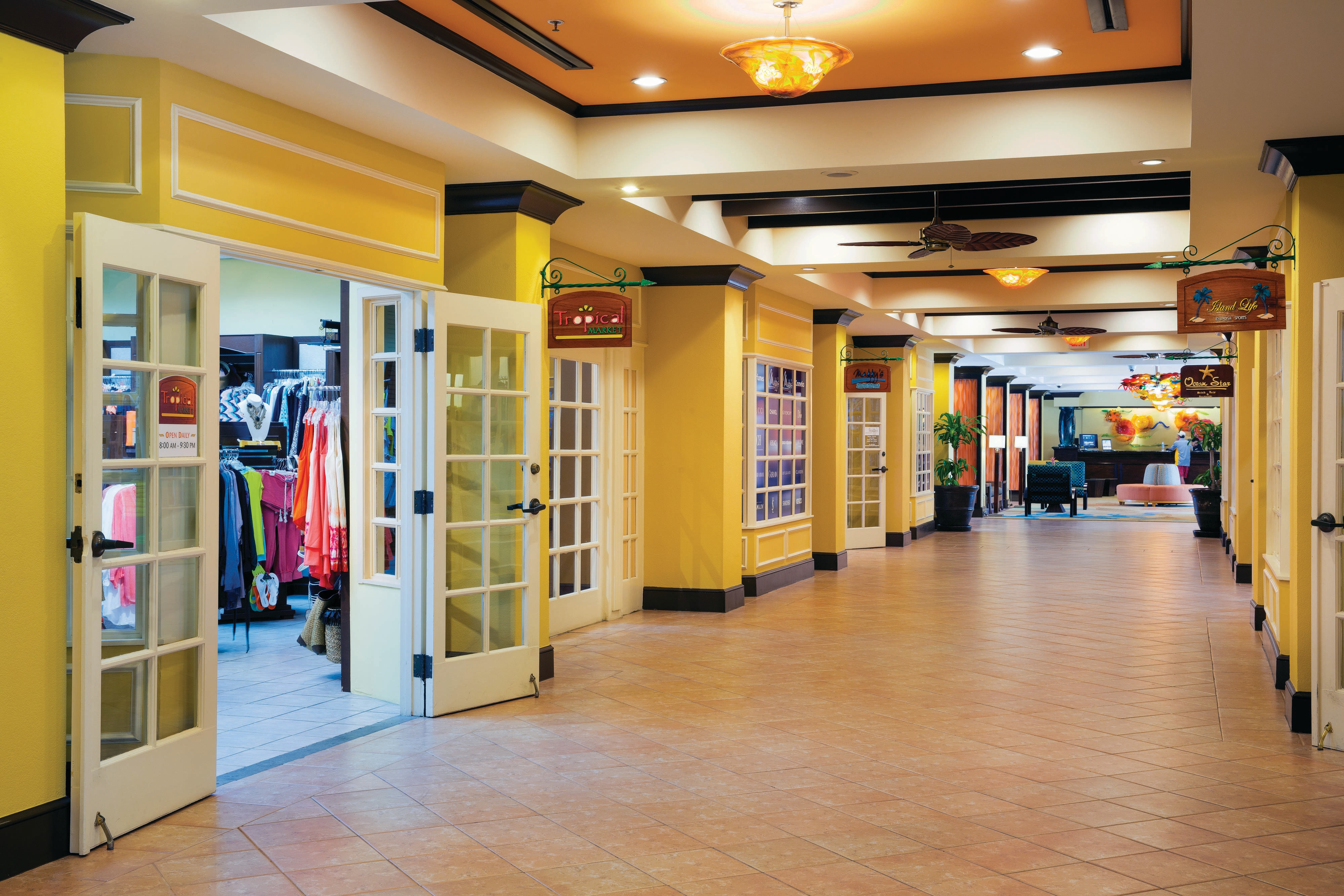 On-site Shopping Corridor