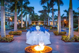 Outdoor Dinner Reception