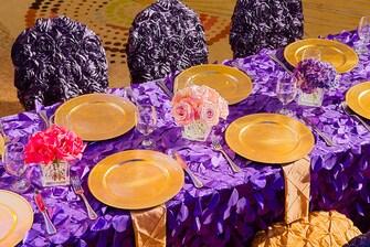 Wedding Reception - Table Setting