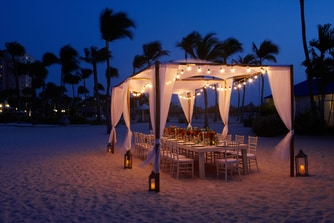 Aruba Resort Outdoor Wedding Setup
