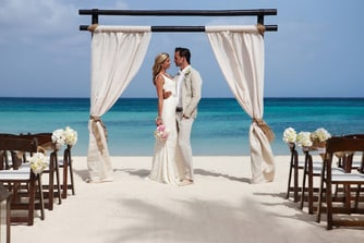 Aruba Marriott Beach Wedding Setup