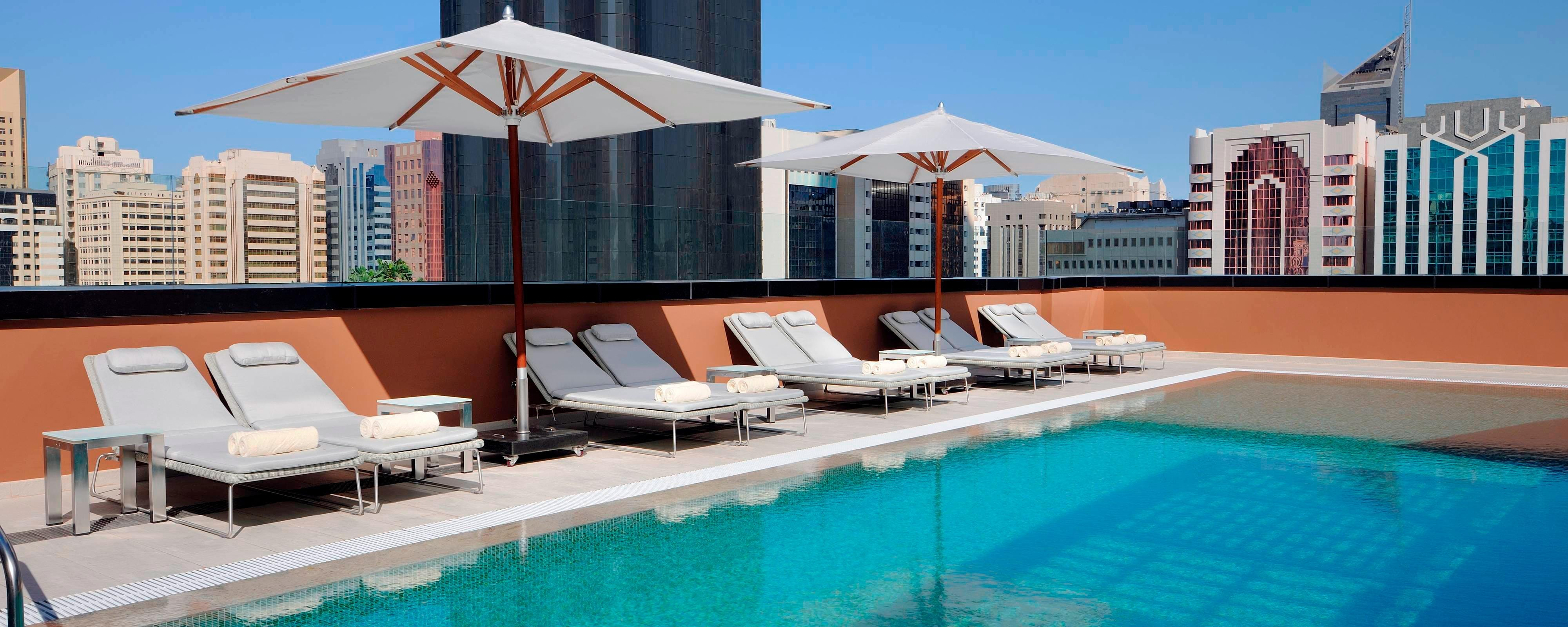 outdoor pool hotel abu dhabi