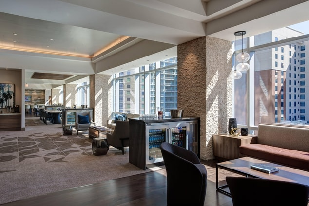 austin hotel with concierge lounge