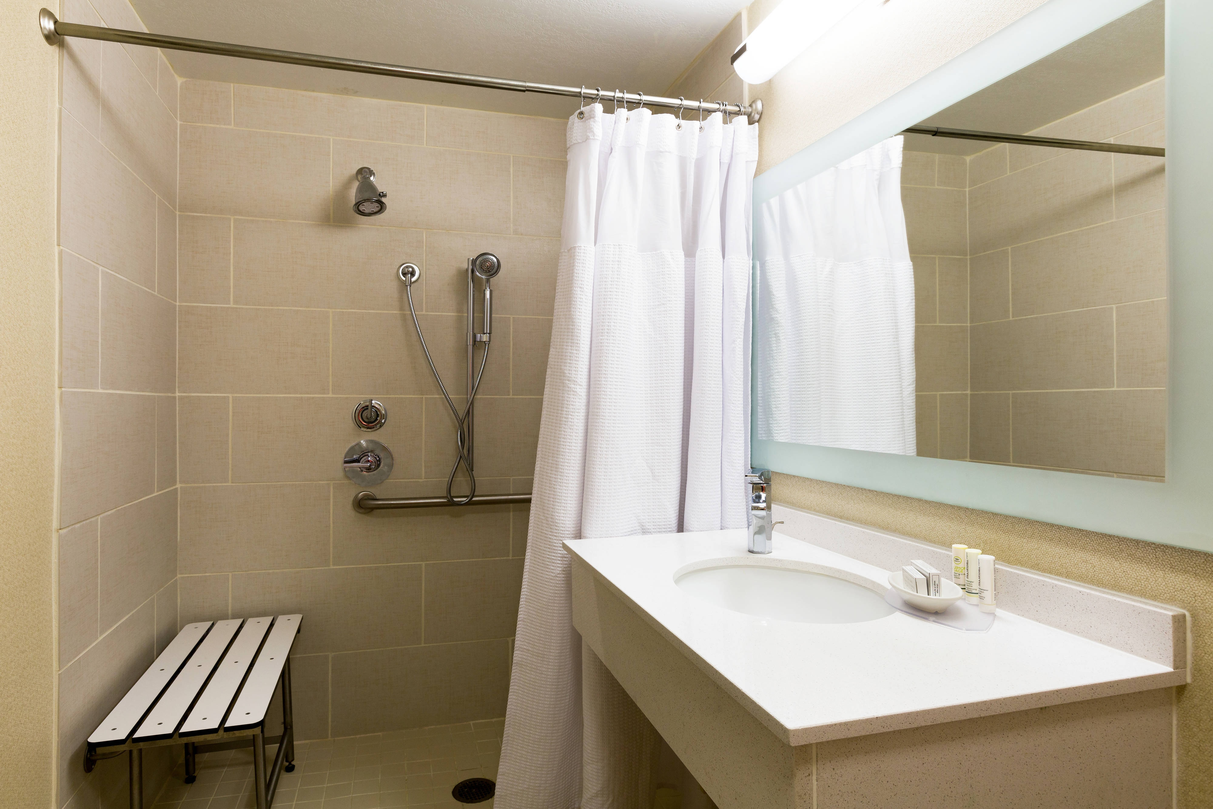 Austin Airport Accessible Suite Bathroom