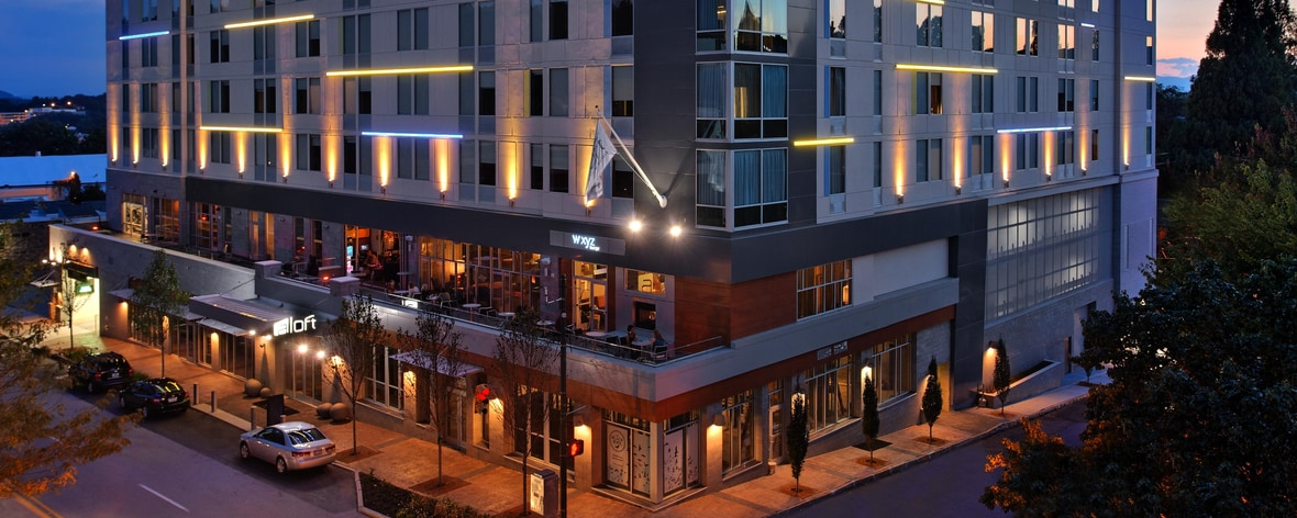 Downtown Asheville Hotels Map on