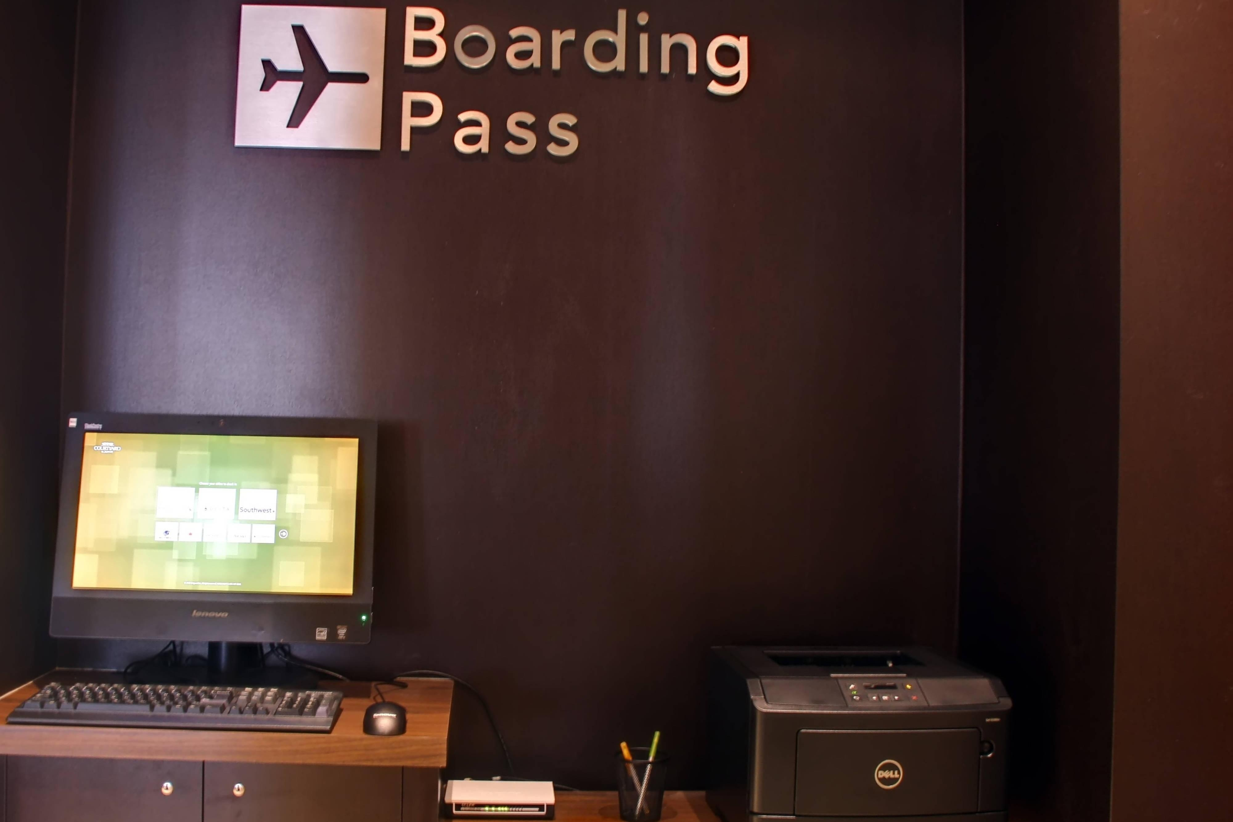 Boarding Pass Print Station