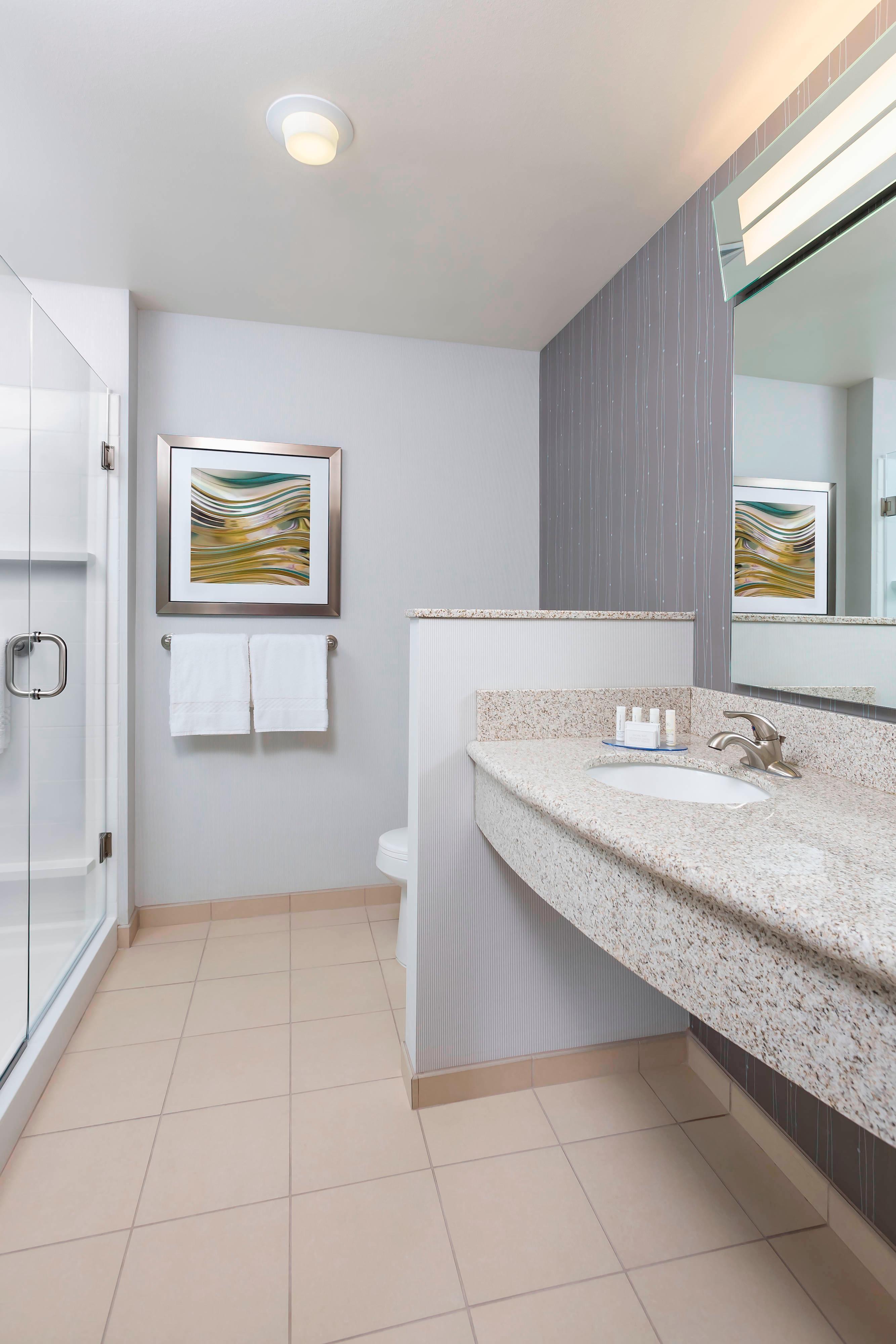 Marriott Kalamazoo hotel bathroom