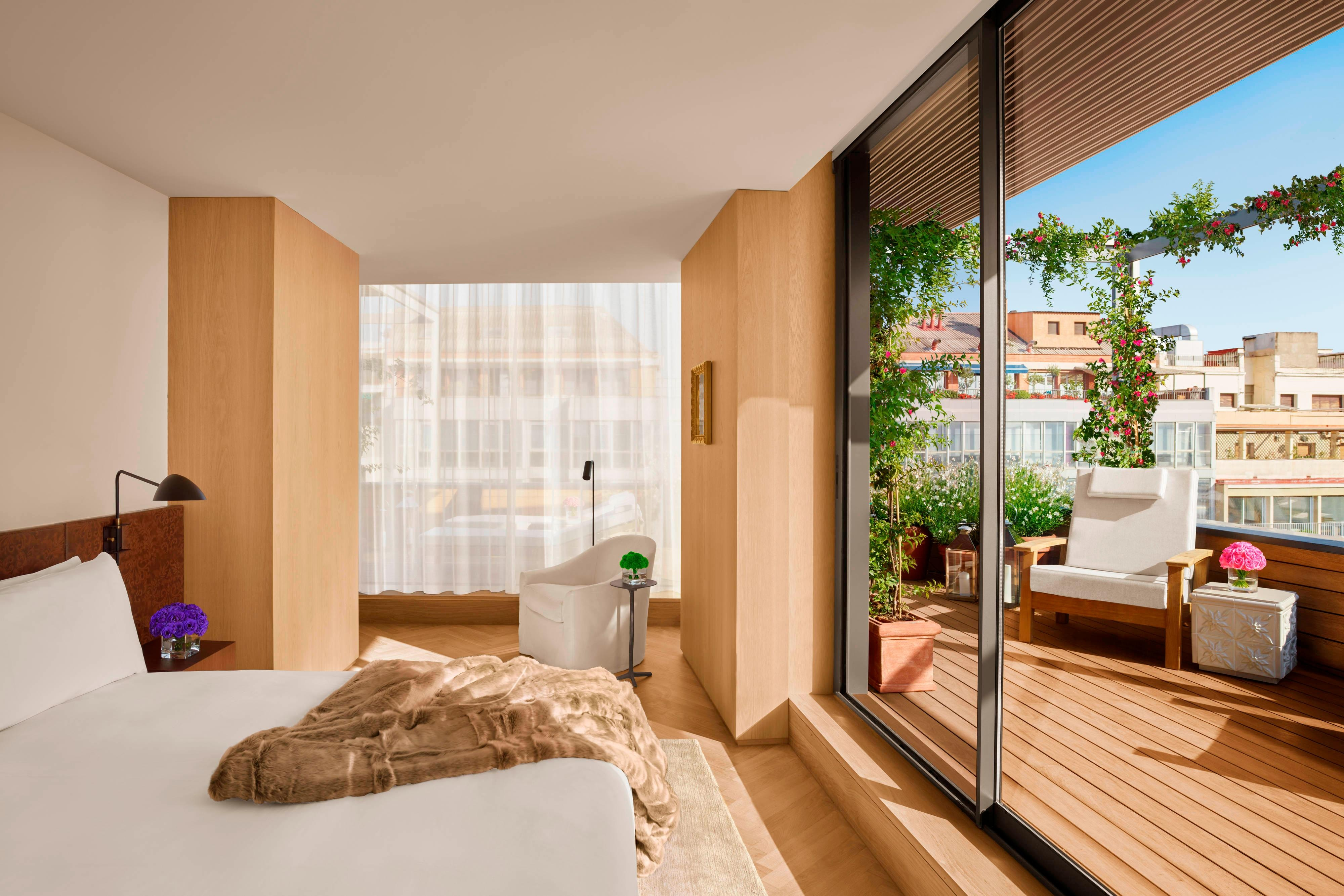Спальня в пентхаусе Santa Caterina