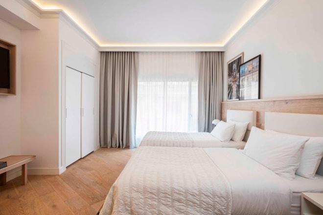 Suite en esquina con dos camas dobles