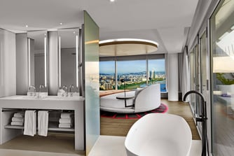 WOW Suite - Bedroom and Bathroom