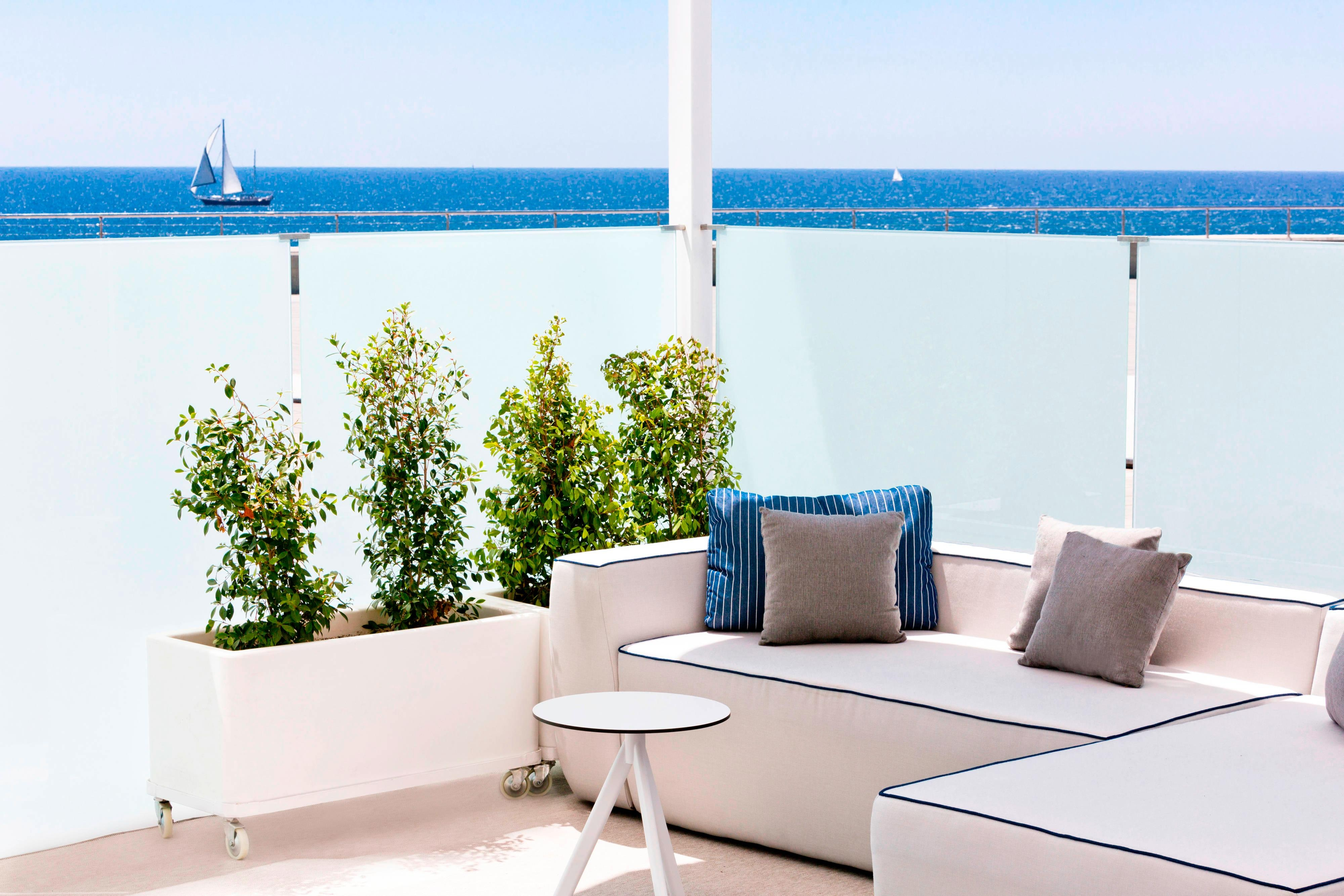 BREEZE Terrace Seating with Sea Views
