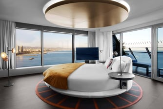 Dormitorio de la suite WOW