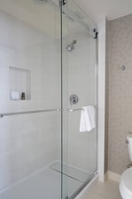 walk in shower on concierge level
