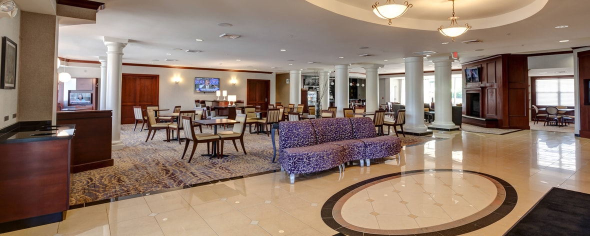 Marriott Courtyard lobby, Hadley - Amherst, Massachusetts
