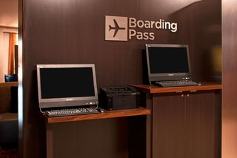 Farmington Hotel Boarding Pass Printing Station