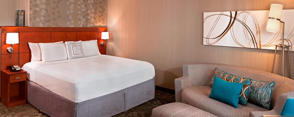 ファーミントンのホテルの客室