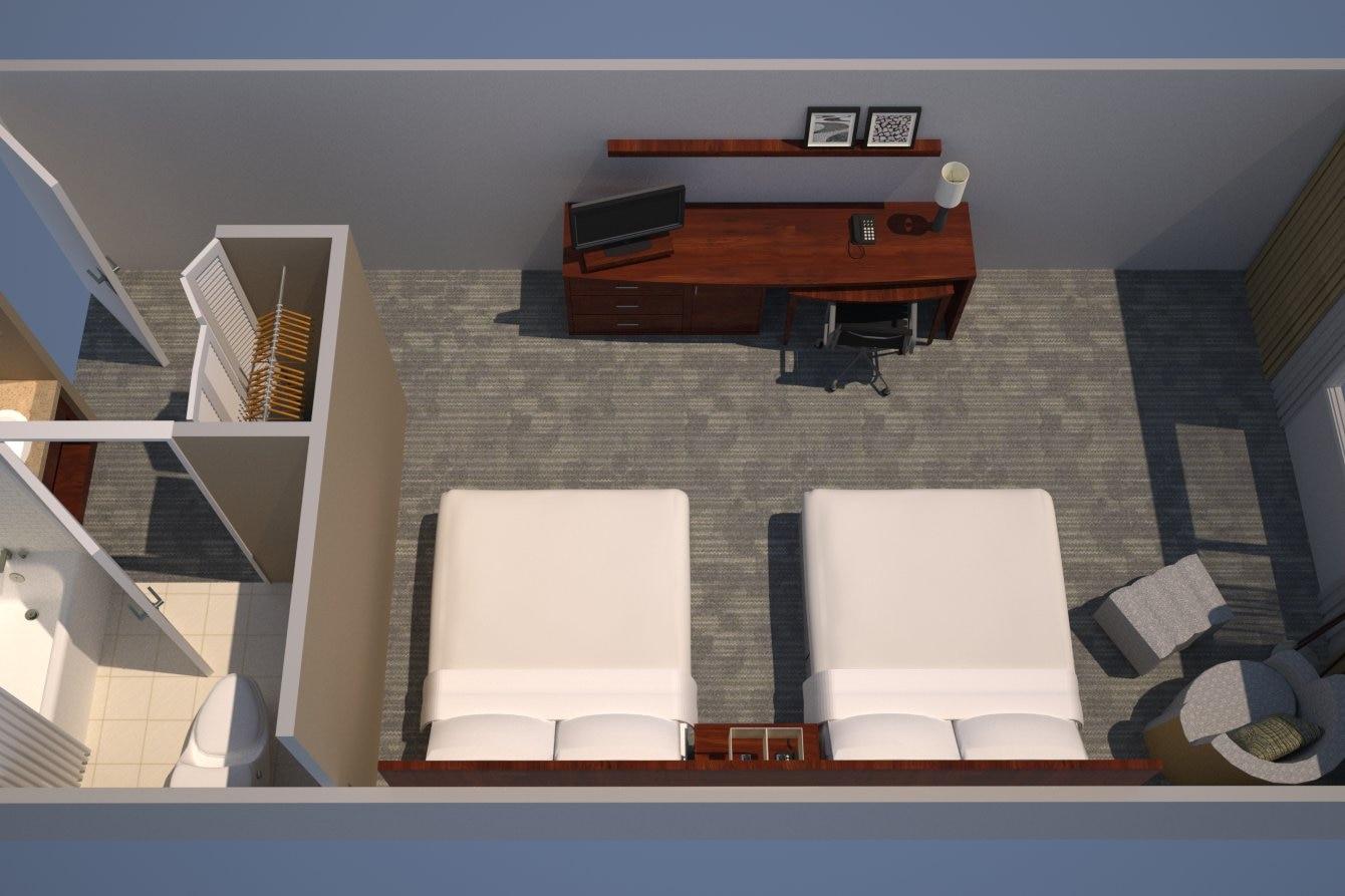 Guest Room, 2 Queen Beds