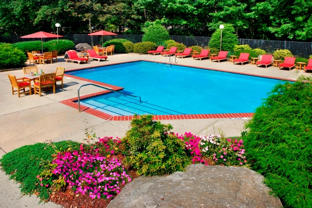 Outdoor Pool at Trumbull Marriott