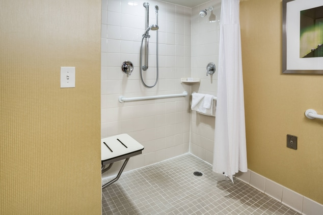 ADA Guest Bahtroom Roll-in Shower