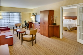 Suite Living and Sleeping Areas