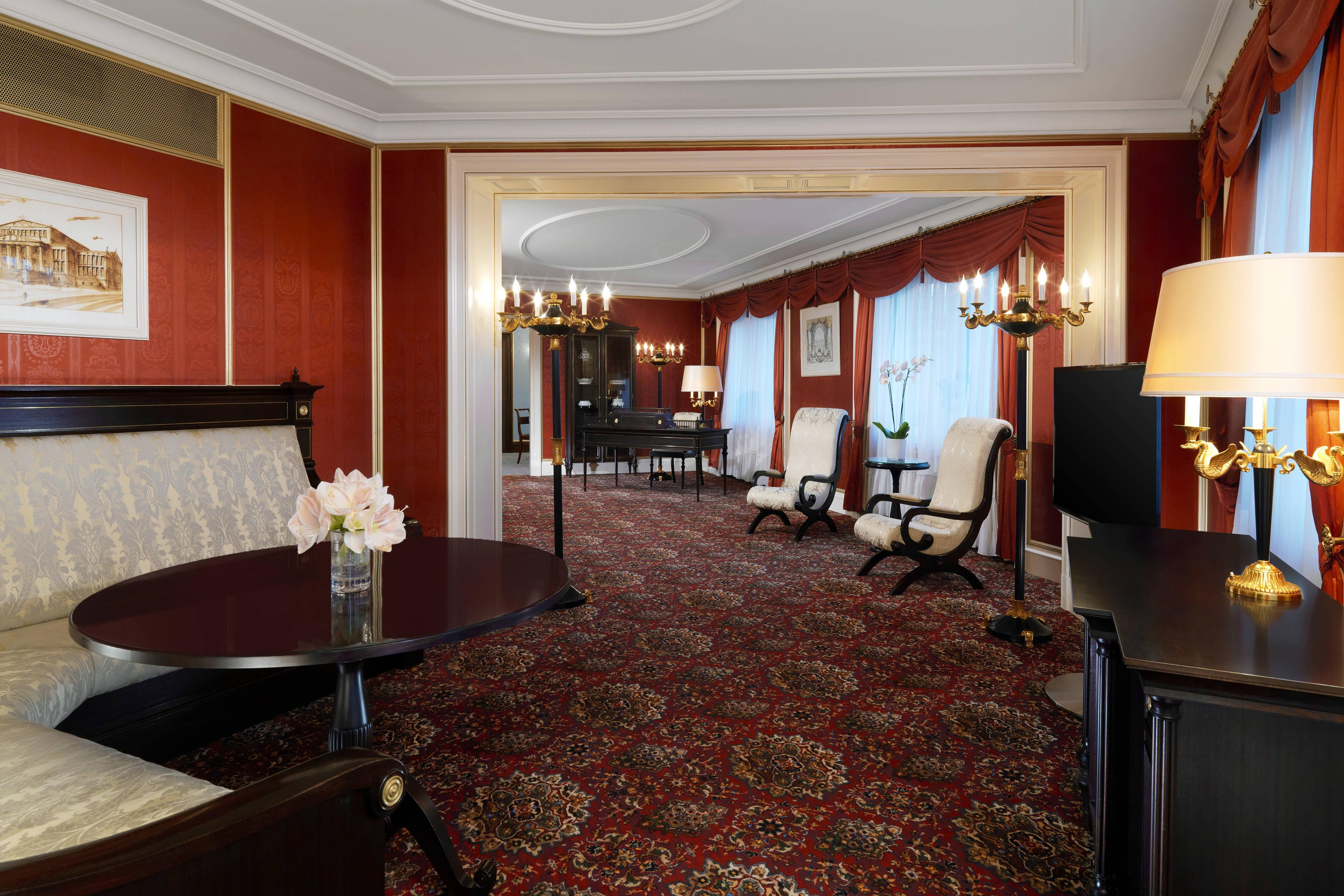 Presidential Suite living area at The Westin hotel in Berlin