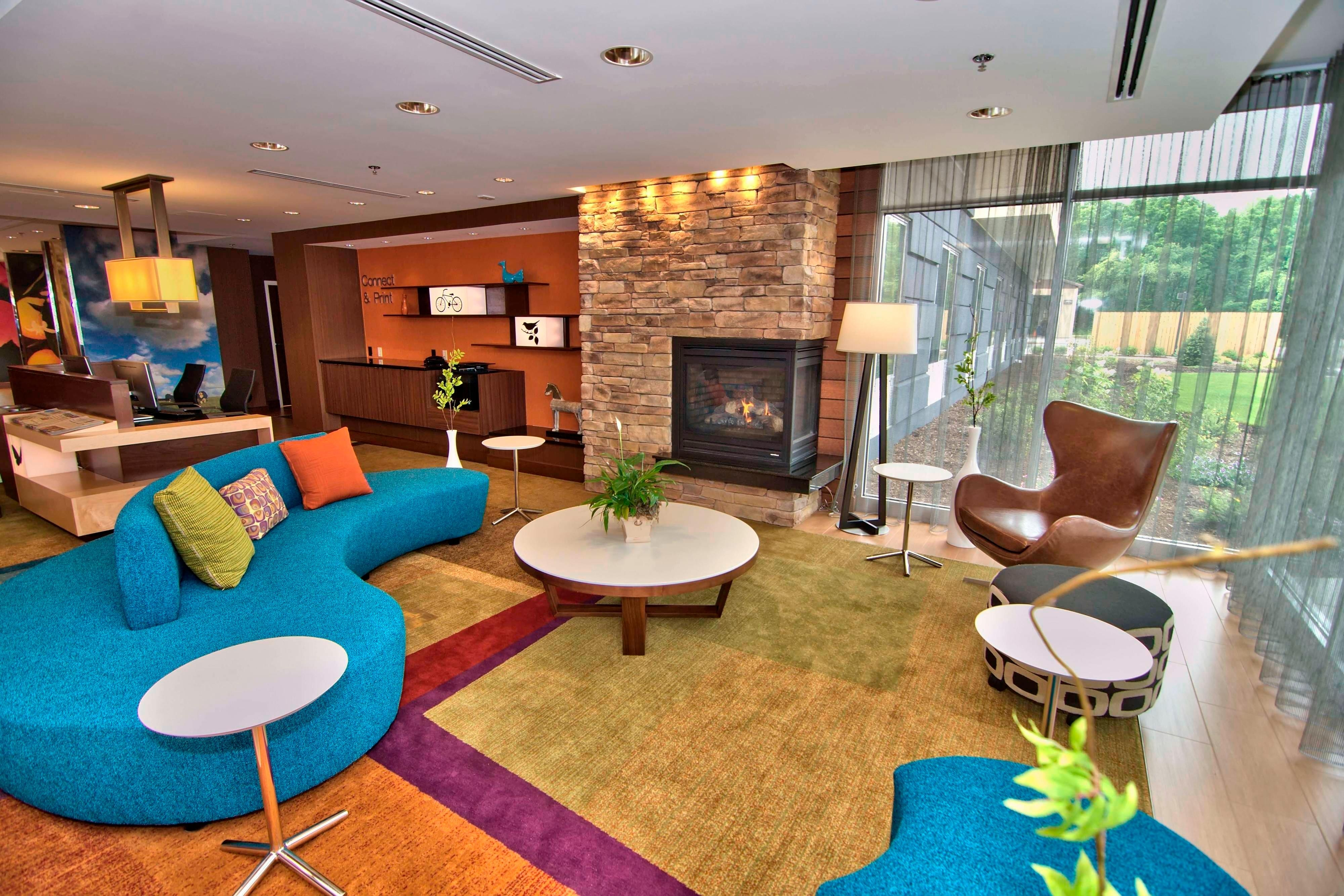 Towanda hotel lobby seating area