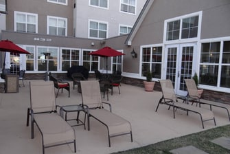 Billings hotel outdoor patio