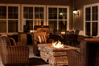 Billings hotel outdoor fire pit