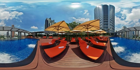 Hotelpool in Bangkok