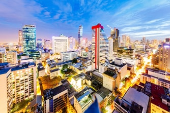 Evening view from Le Méridien Bangkok