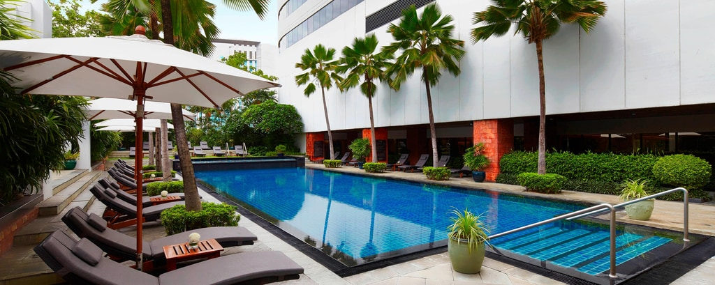 Outdoor pool in Bangkok