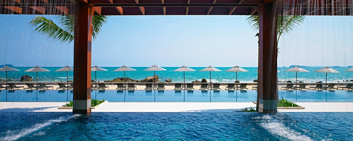 Piscine du Rayong Marriott Resort & Spa