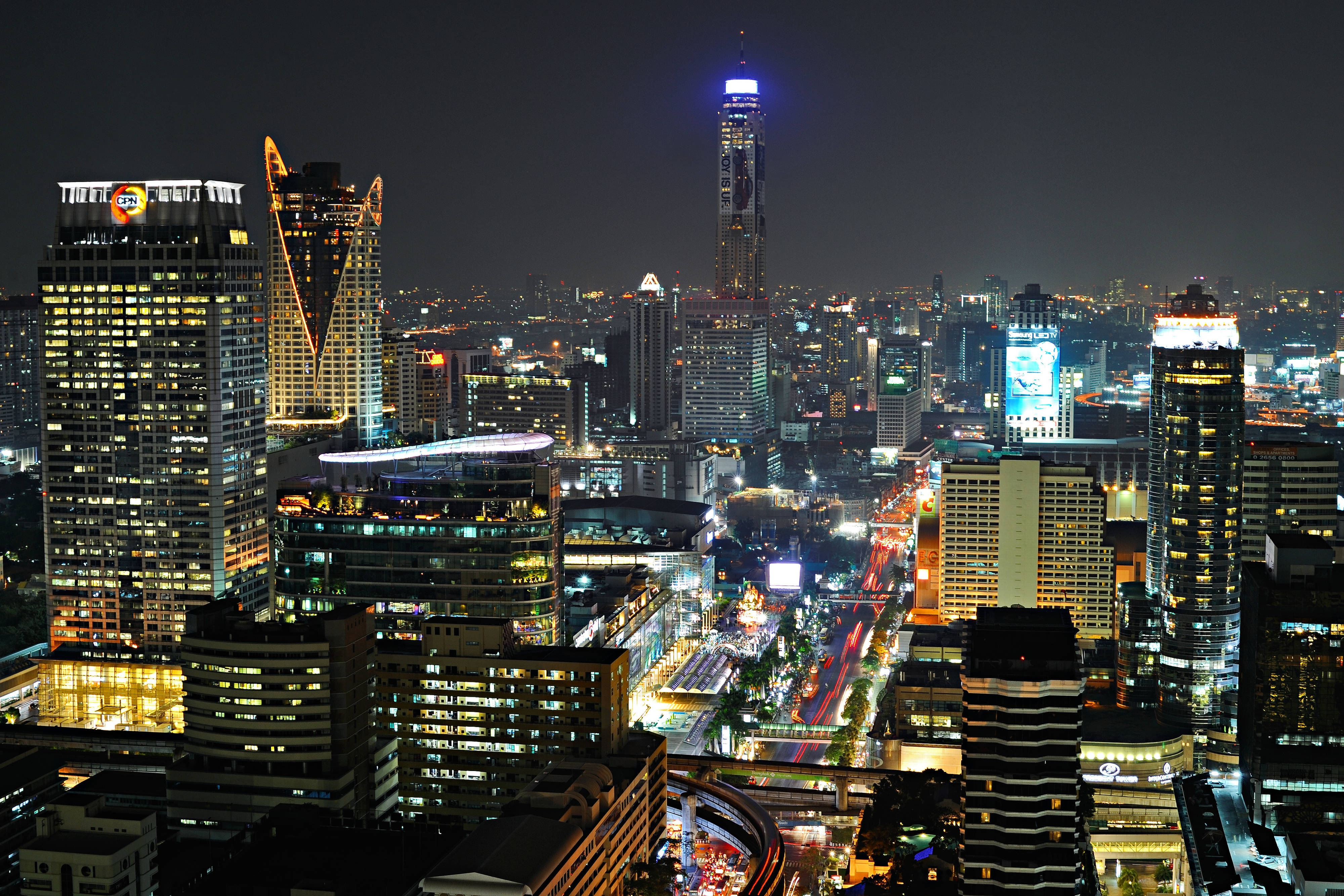 Bangkok city View fall
