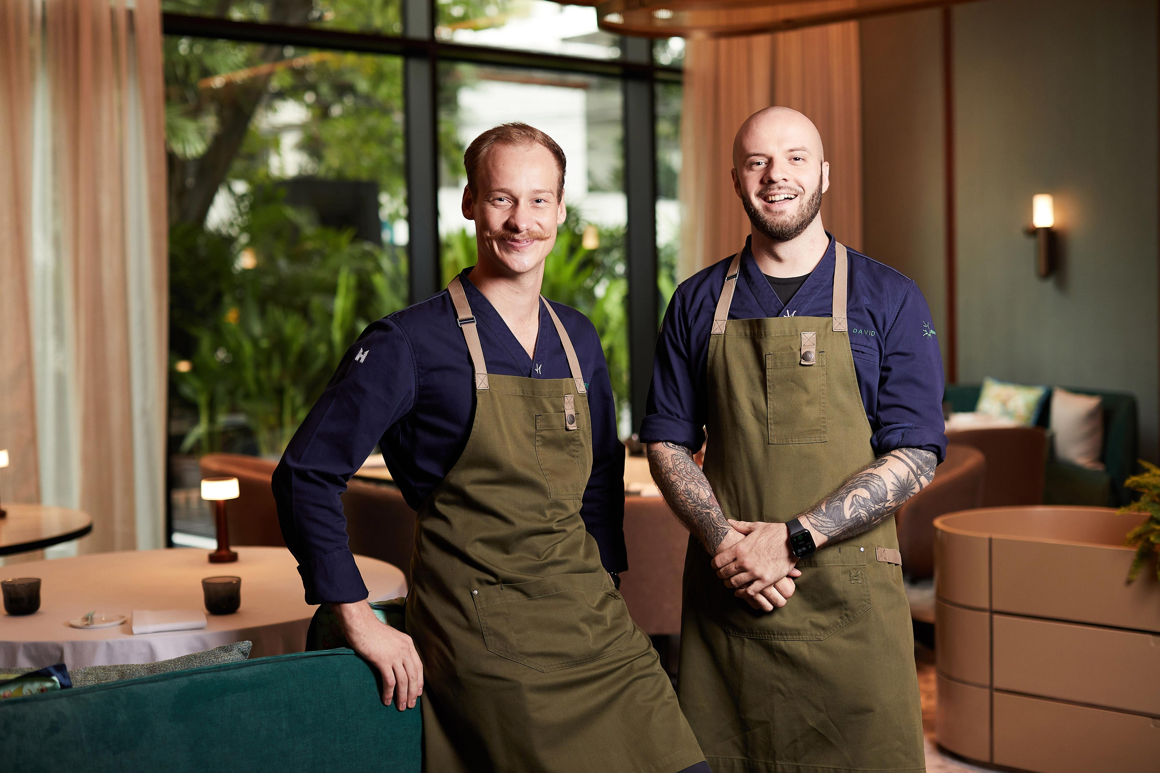 IGNIV Bangkok - Head Chef David Hartwig and Sous & Pastry Chef Arne Riehn