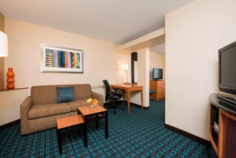 Marriott Fairfield guest rooms, Bloomington Indiana guest rooms