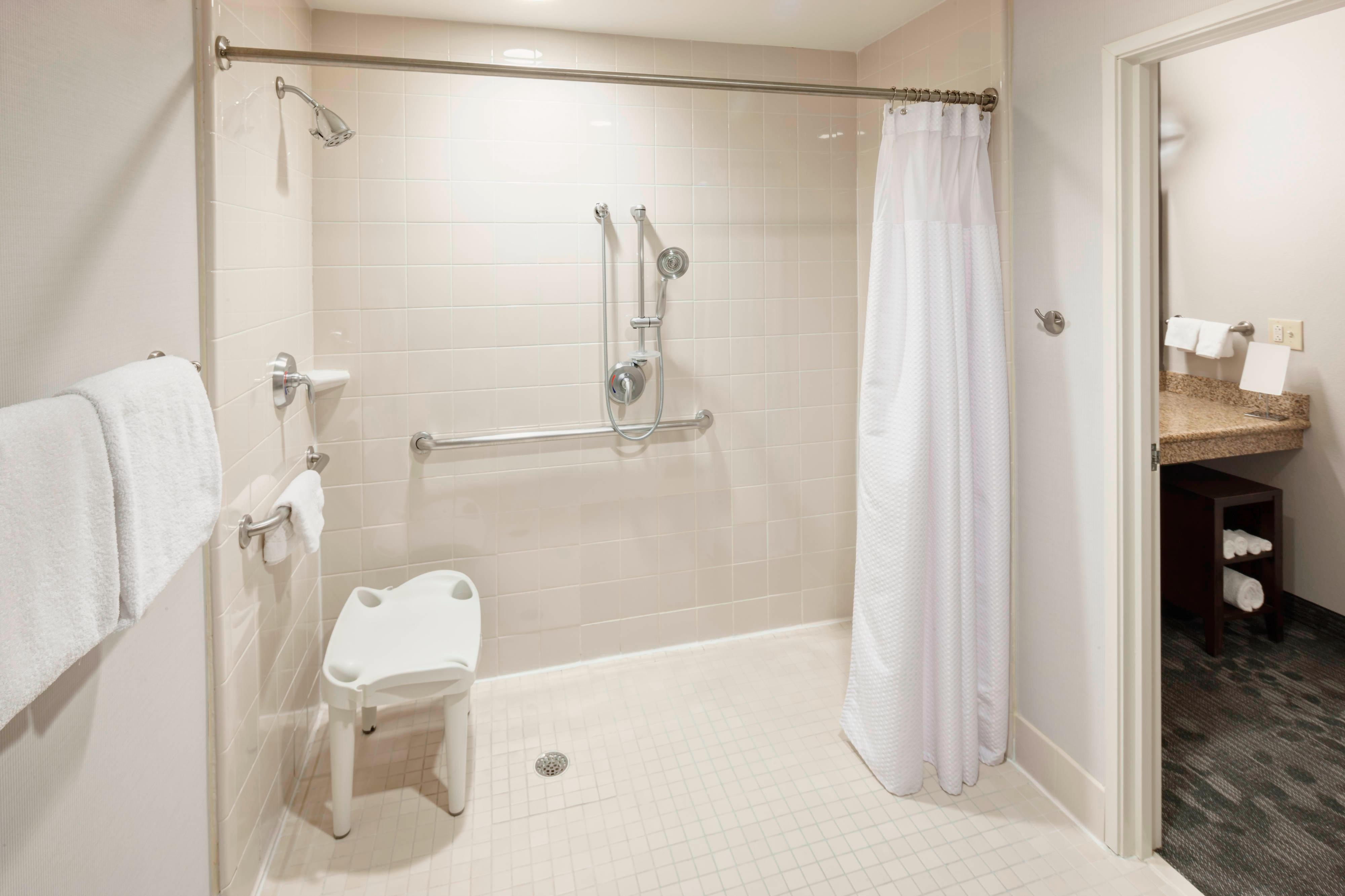 Accessible Guest Bathroom Roll-in Shower