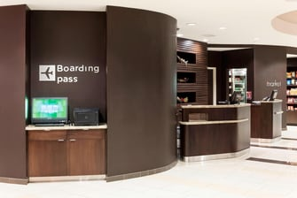 Welcome Pedestals and Boarding Pass Station