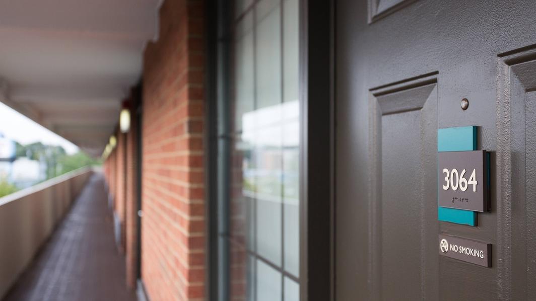 Exterior Rooms Hallway