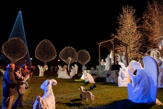 Outdoor Nativity Display