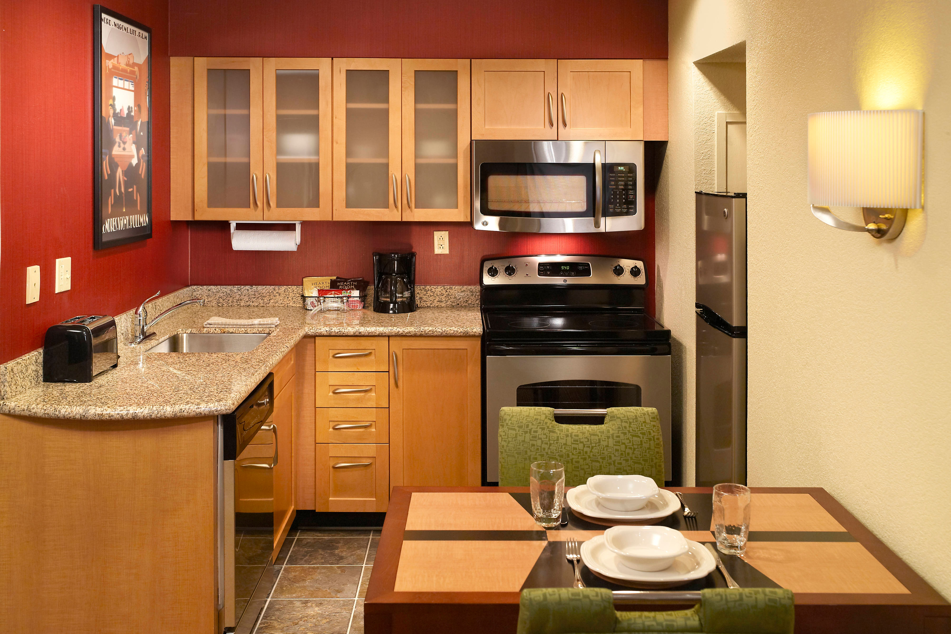 Residence Inn Studio Suite Kitchen