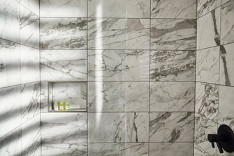 Statuario Carrara Marble Shower