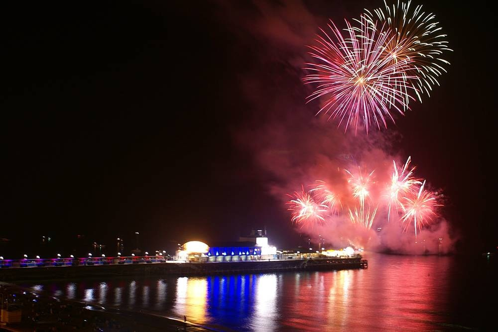 Fuegos artificiales en Bournemouth