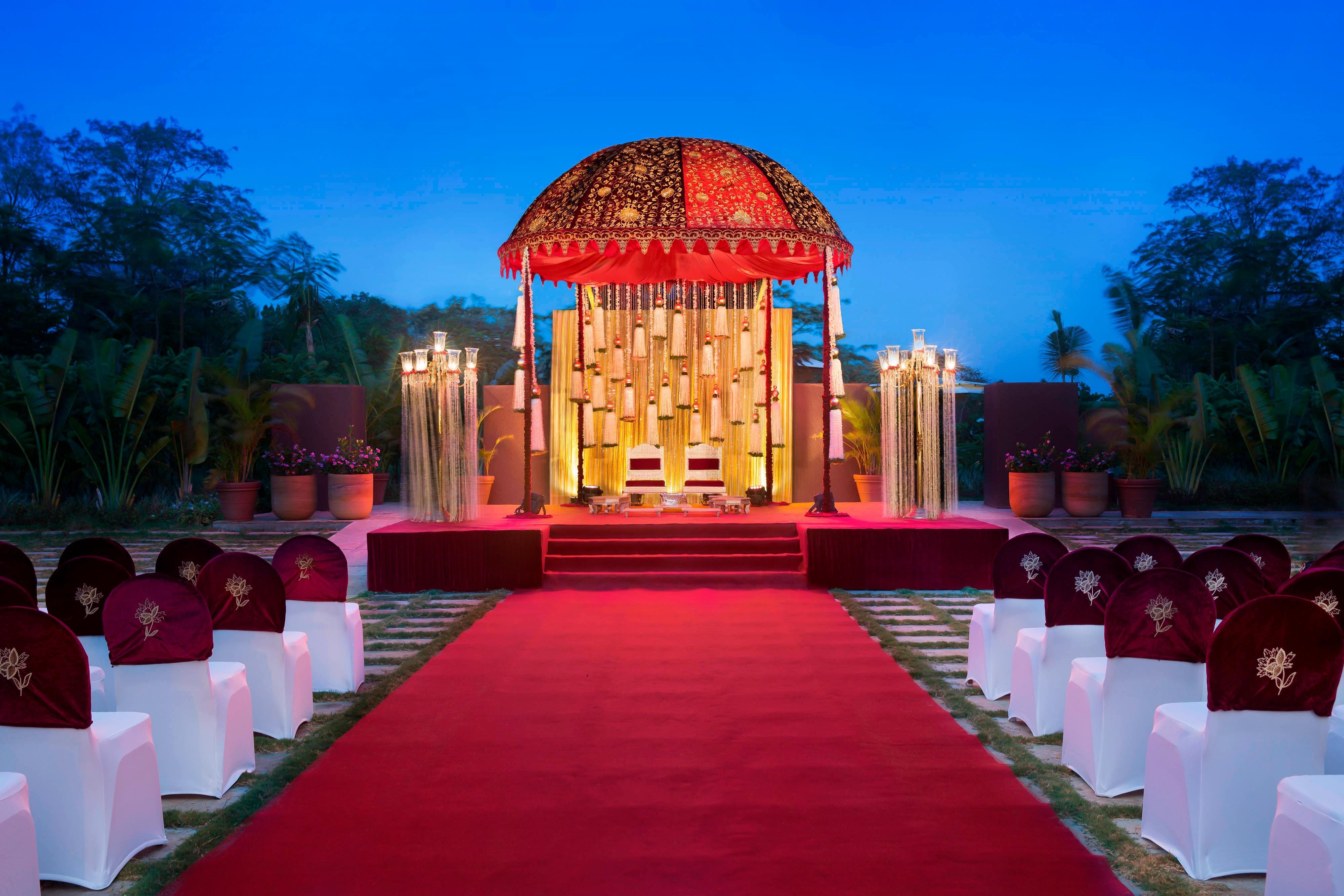 ムンバイの屋外結婚式場