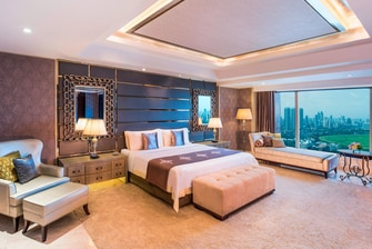 The luxurious Bedroom at the Presidential Suite