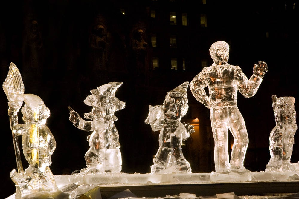 First Night Ice Sculpture