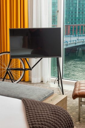 Bicycle Television Stand - Water View