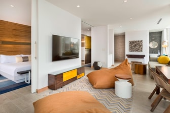 The Envoy Hotel - One-Bedroom Suite Living Room