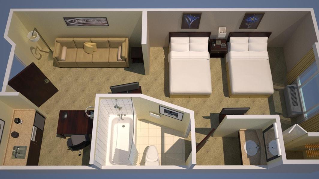 double/double floor plan